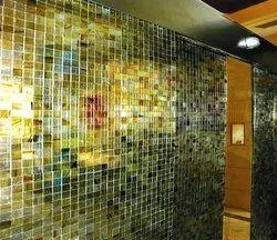 Multicolor Glossy Decorative Fusion Glass, Size: 15 X 10 Feet