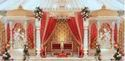 Golden Rajasthani Fiber Wedding Stage