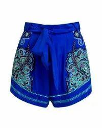 Thigh Length Women Beachwear Shorts, Size: S-xxl