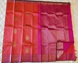 Dark Pink Silk Saree