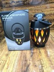 Black Round LED Flame speaker color changing, For Home