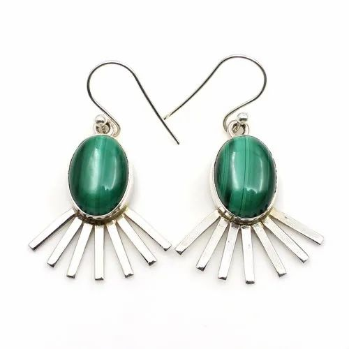 Malachite stone Dangle Earring