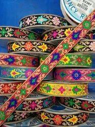 S3387 Metallic Jacquard Ribbons Laces