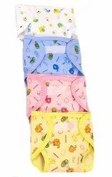 PEUBUD Multicolor Baby Velcro Hosiery Cotton Padded Nappies/diaper/langot/Nappy, Age Group: 0-6 Months