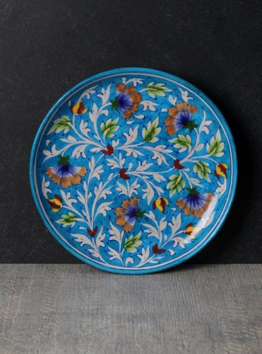 Decorative Blue Pottery Plate