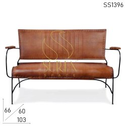 Suren Space Dimensions: 103 X 60 X 66 Cm Leather Dining Bench With Back