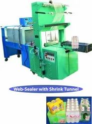 Semi - Automatic Web Sealer with Shrink Wrapping Machine - Heavy Duty Model