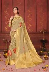 Festive Wear Lichi Cotton Silk Saree