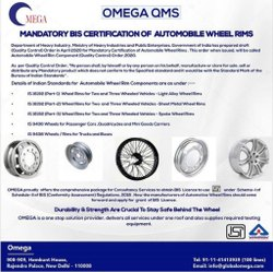 BIS Certification for Automobile Wheel Rims