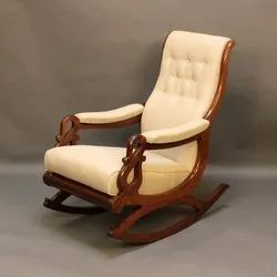 Antique Brown Rocking Chair, For Home, Back Style: Cushion