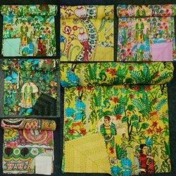 Printed  Kantha Bed Cover