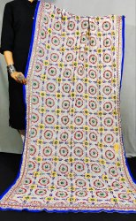 Pure Georgette Hand Embroidered Phulkari Dupatta