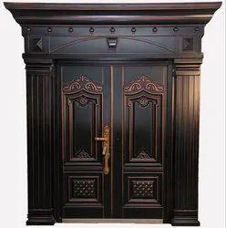 Inward Open Mild Steel Maharaja Double Door, For Home, Size/Dimension: 2050 H X 1500 W X 70 D Mm
