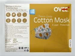 Ovee+ Reusable 3 Layer Protection Printed Cotton Face Mask