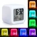 7 Color LED Digital Table Clock with Alarm