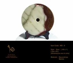 Decorative Marble Feng Shui Disc for Home, Size/Dimension: Dia - 40 Cms