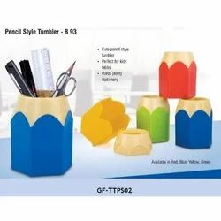 Various Combo Plastic Pen Stand, For Office, Home, Size/Dimension: 10.2 X 9.5 X 8