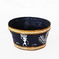 Warli Hand Painted Paper Bowl