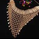 Alloy Metal Artificial Wedding Necklace