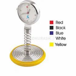 Madhurash Assorted Desktop Analog Spring Clock - Promotional Gift, Shape: Round