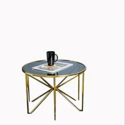 Butterfly Design Shiny Golden Center Table