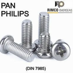 Rimco Overseas Stainless Steel Pan Phillips Machine Screw