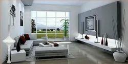 Elite Space Modern Hall with TV Interior Design