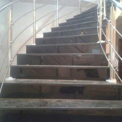 Polished Bar Cast Iron Stair Railings, For Home