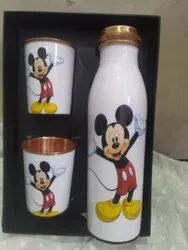 Copper Bottle Tumbler Set Cartoon