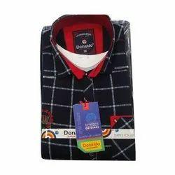 Cotton Full Sleeves Donaldo Kids Casual Wear Shirt
