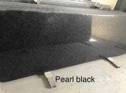 Pearl Black Granite Slab, For Flooring, Thickness: 15 mm