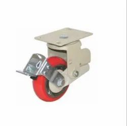 Spring Loaded Brake Caster Wheel