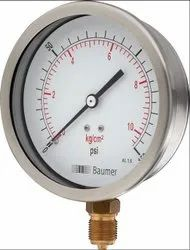 Adjustable Water Pressure Brass Gauge