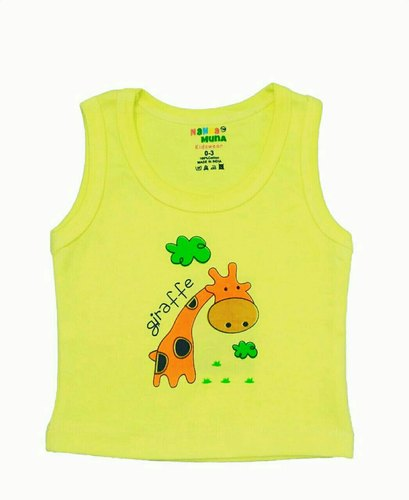One Color Printed Vest For Boys & Girls