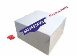 3 PLy Corrugated White Cake Box