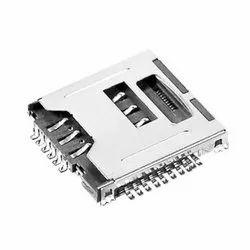 6/8 Pins Mup-m618 Push Type Sim Tf Card Connector