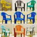 Mixed color Plastic chairs