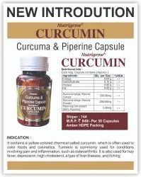 CURCUMIN & PIPERINE, 30 Capsule, Packaging Type: Bottle