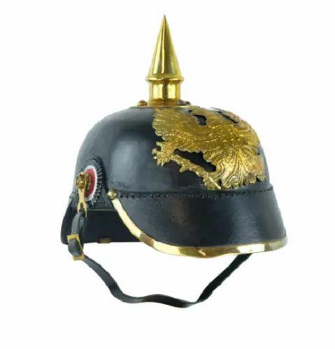 Leather PickleHaube Helmet