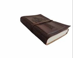 Celtic Cross Embossed Leather Bound Journal
