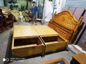 Teak Wood Bed Cot With Storage