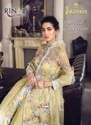 Rinaz Fashion Jazmin Vol 12 Bridal Collection Net Fabric Pakistani Style Suits Catalog