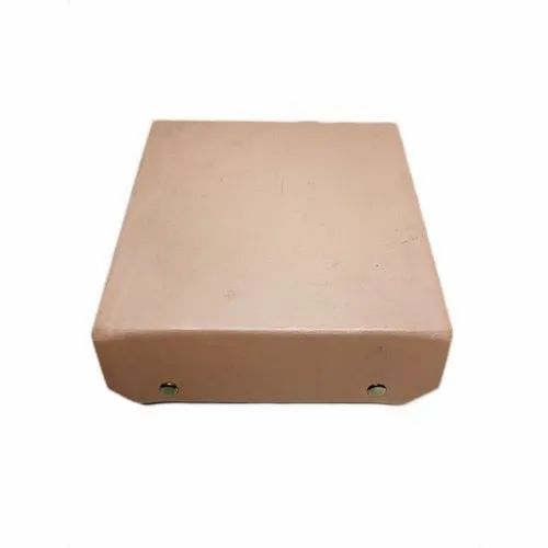 Beige Leather Gift Box, 5x14 Inches
