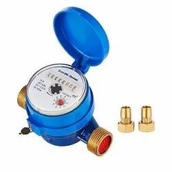 Brass Analog, Digital Sant Make Water Meter, For Industrial, Line Size: 0.5 To 8 Inches