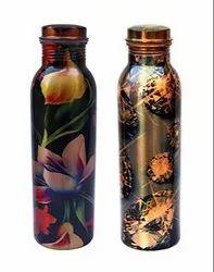 AIC Standard Printed Copper Bottle, Capacity: 950 Ml, Screw