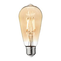Power On Round 4W LED Filament Bulb