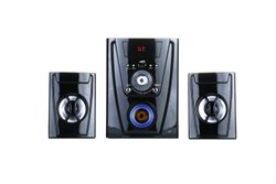 Black Plastic 2.1 Polo Multimedia Speaker System, 60w To 200w