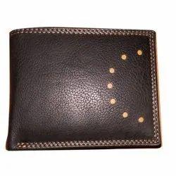 Bi Fold Mens Leather Wallet, Card Slots: 6