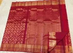 Chilli Red Wedding Saree
