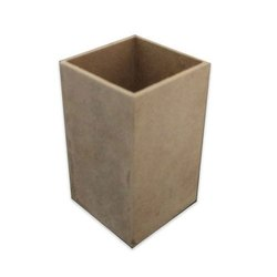 Angoothachap Brown MDF Pen Holder Stand, Size/Dimension: 3 X 3 X 5 Inch